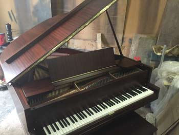 Fully restored  Vose and sons grand piano with mahogany case, original color with new satin finish, C. 1920